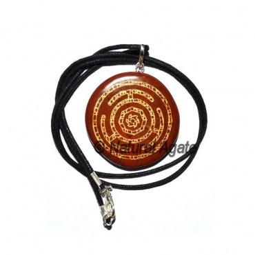 Red Jasper Wheel Chakra Pendants
