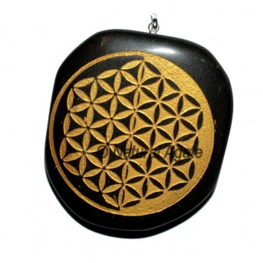 Flower of Life Double Embossed ReikI Pendants