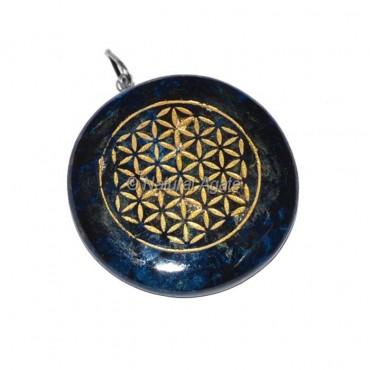 Lapis Lazuli Flower Of Life Pendant