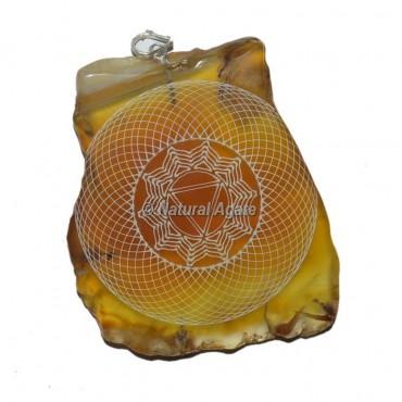 Solar Chakra Slice Pendants
