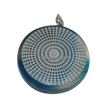 Square Design Disc Pendants