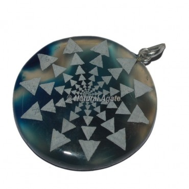 Engraved Card Disc Pendants