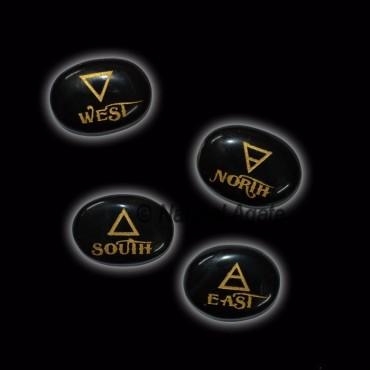 Black Agate Oval Reiki Element Set