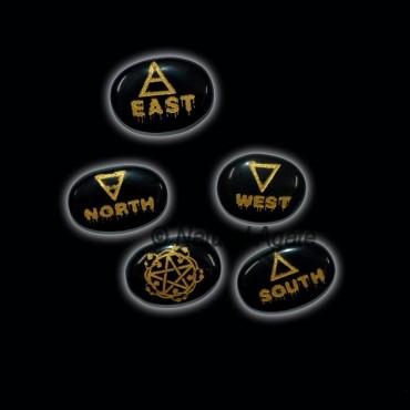 Black Agate Reiki Element Set