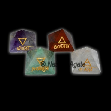 East-West-North-South Reiki Element Pyramids Set