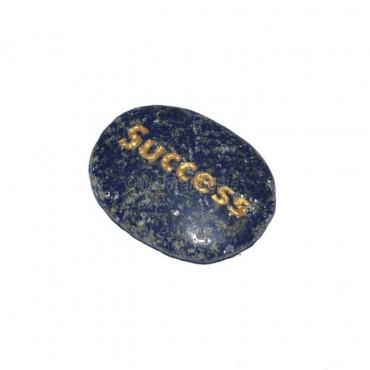 Lapis Lazuli Success  Engraved Stone