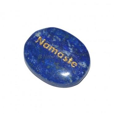Lapis Lazuli Namaste  Engraved Stone