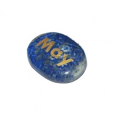 Lapis Lazuli May  Engraved Stone