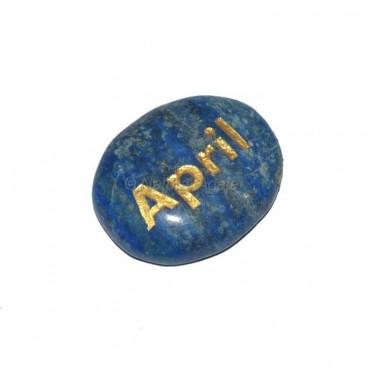 Lapis Lazuli April  Engraved Stone