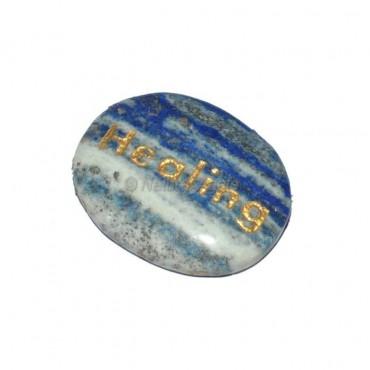 Lapis Lazuli Healing  Engraved Stone