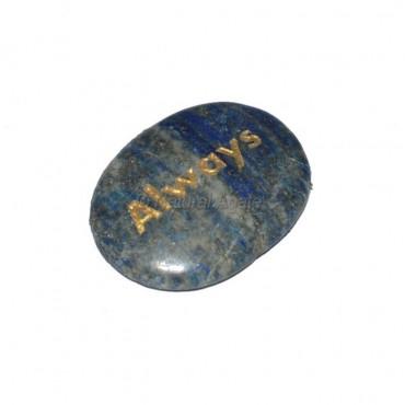 Lapis Lazuli Always  Engraved Stone