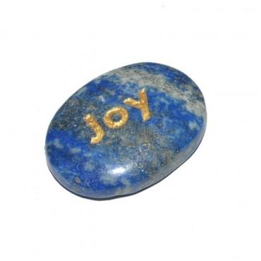 Lapis Lazuli Joy  Engraved Stone