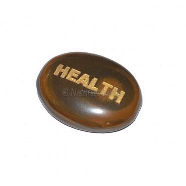 Tiger Eye Health Engraved Stone