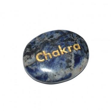 Sodalite Chakra Engraved Stone
