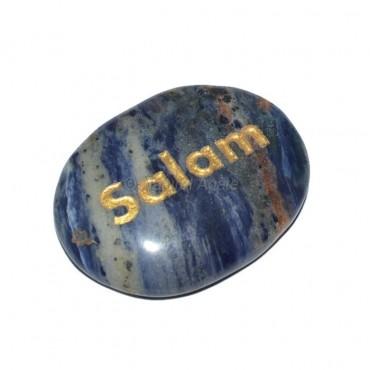 Sodalite Salam Engraved Stone