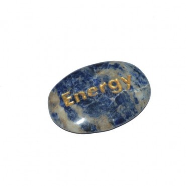 Sodalite Energy Engraved Stone