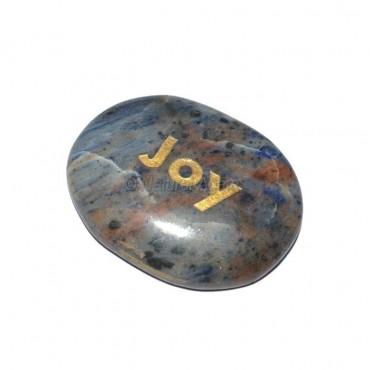 Sodalite Joy Engraved Stone