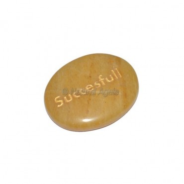 Yellow Jasper Successful Engraved Stone