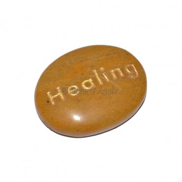 Yellow Jasper Healing Engraved Stone