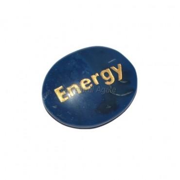 Blue Onyx Energy  Engraved Stone