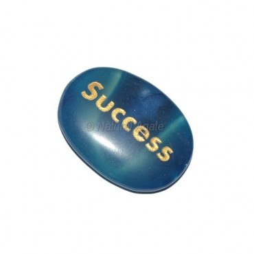 Blue Onyx success  Engraved Stone