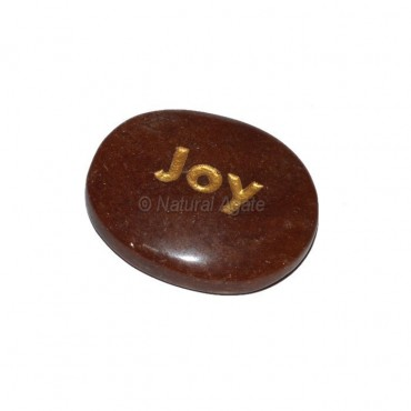 Peach Aventurine joy Engraved Stone