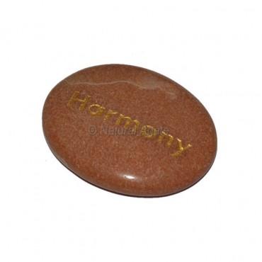 Peach Aventurine Harmony Engraved Stone