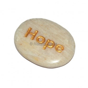 Moon Stone Hope Engraved Stone