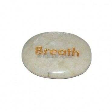 Moon Stone Breath Engraved Stone