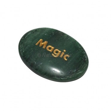 Green Aventurine Magic Engraved Stone