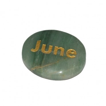 Green Aventurine  June Engraved Stone