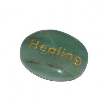 Green Aventurine  Healing Engraved Stone