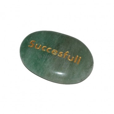 Green Aventurine Successful Engraved Stone