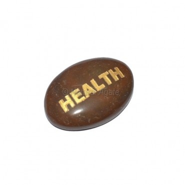 Red Jasper Health Engraved Stone