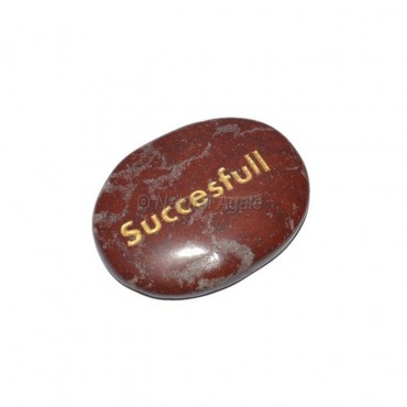 Red Jasper Successful Engraved Stone