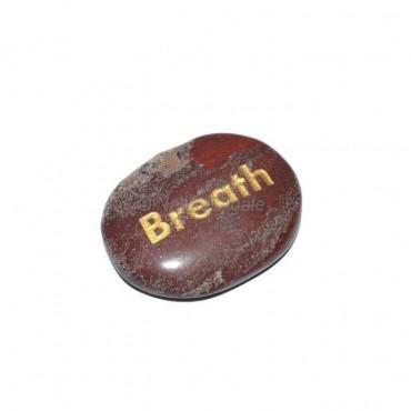 Red Jasper Breath Engraved Stone