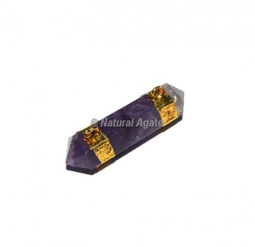 Amethyst Double Terminated Pencil Pendants