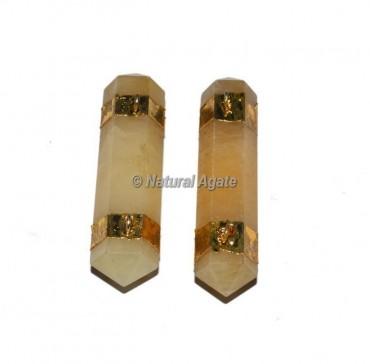 Golden Quartz Double Terminated Pencil Pendants