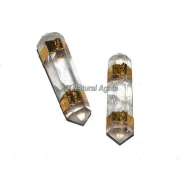 Crystal Quartz  Double Terminated Pencil Pendants