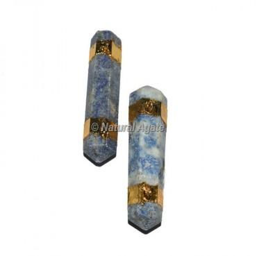 Lapis Lazuli Double Terminated Pencil Pendants