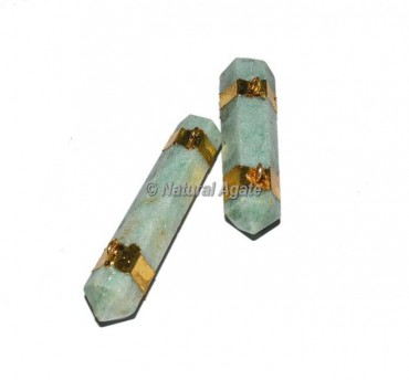 Green Aventurine Double Terminated Pencil Pendants