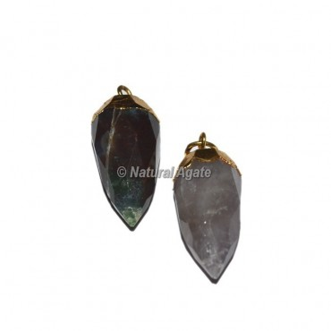 Amethyst Electroplated Drop Pendants