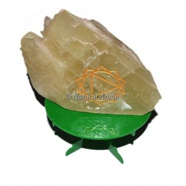 Celtic Solar Chakra Symbol Engraved Rock