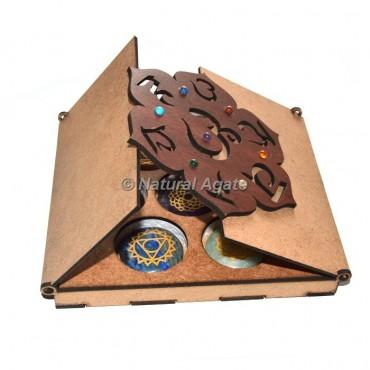 7 Chakra Stone With 7 Chakra Gift Box