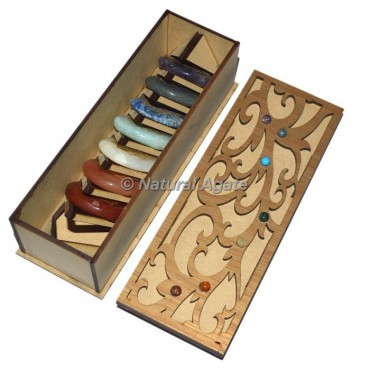 Celtic Design Gift Box With Engraved Seven Chakra Stone