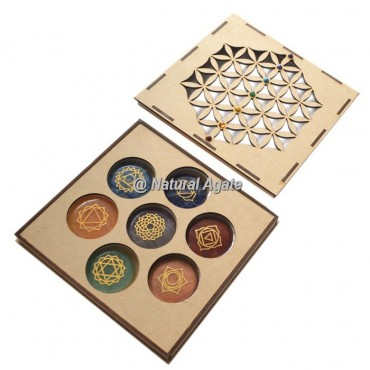 Flower Of Life Wooden Chakra Gift Box