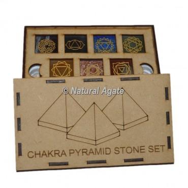 7 chakra Pyramid Stone Set Gift Box