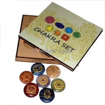 Seven Chakra Set with Printed Wood Gift Box