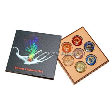 Printed Wooden Gift Box with Chakra Set