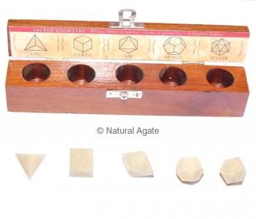 Cream Moon Stone Geometry set